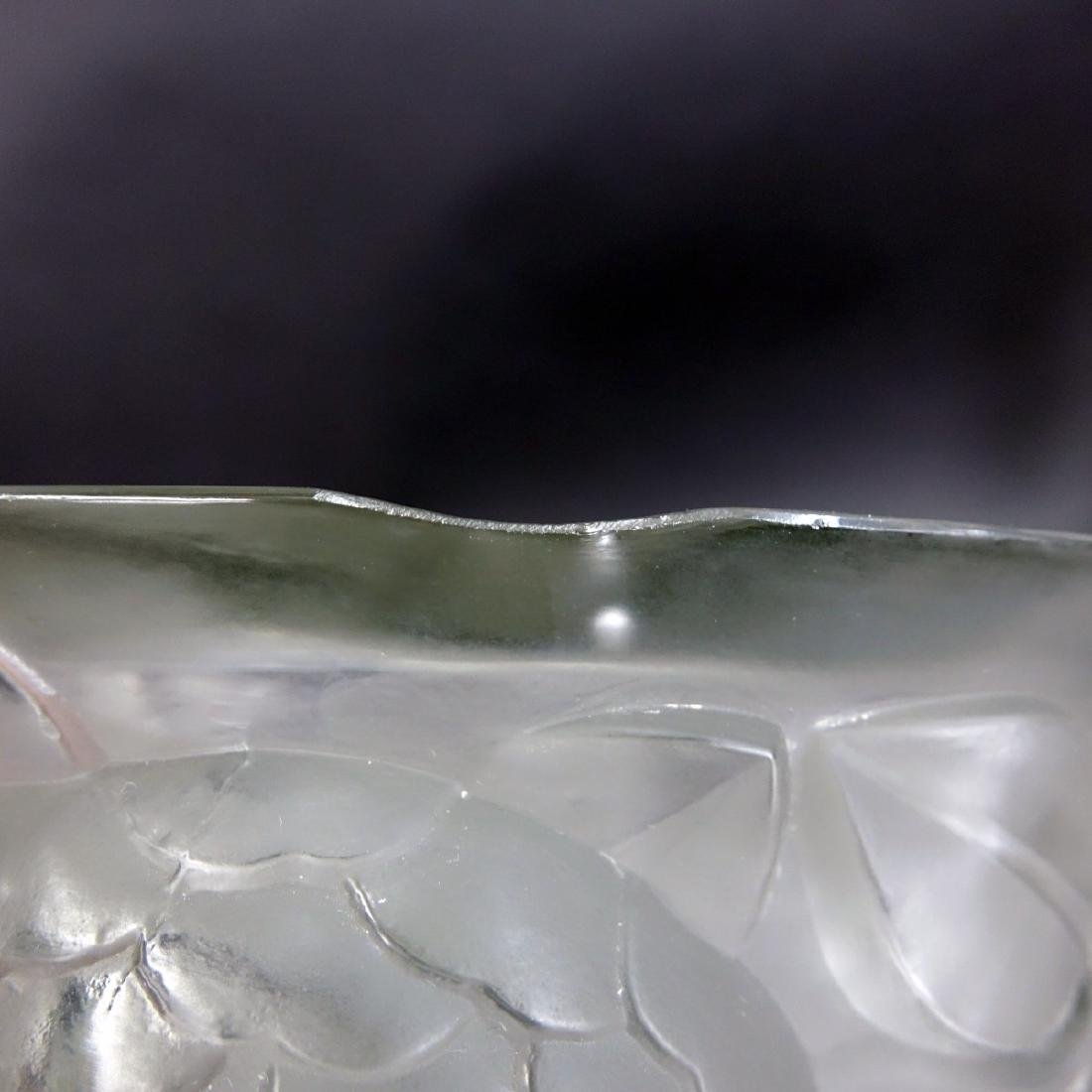 "Large Rene Lalique ""Oran"" Frosted Art Glass Vase - 6"