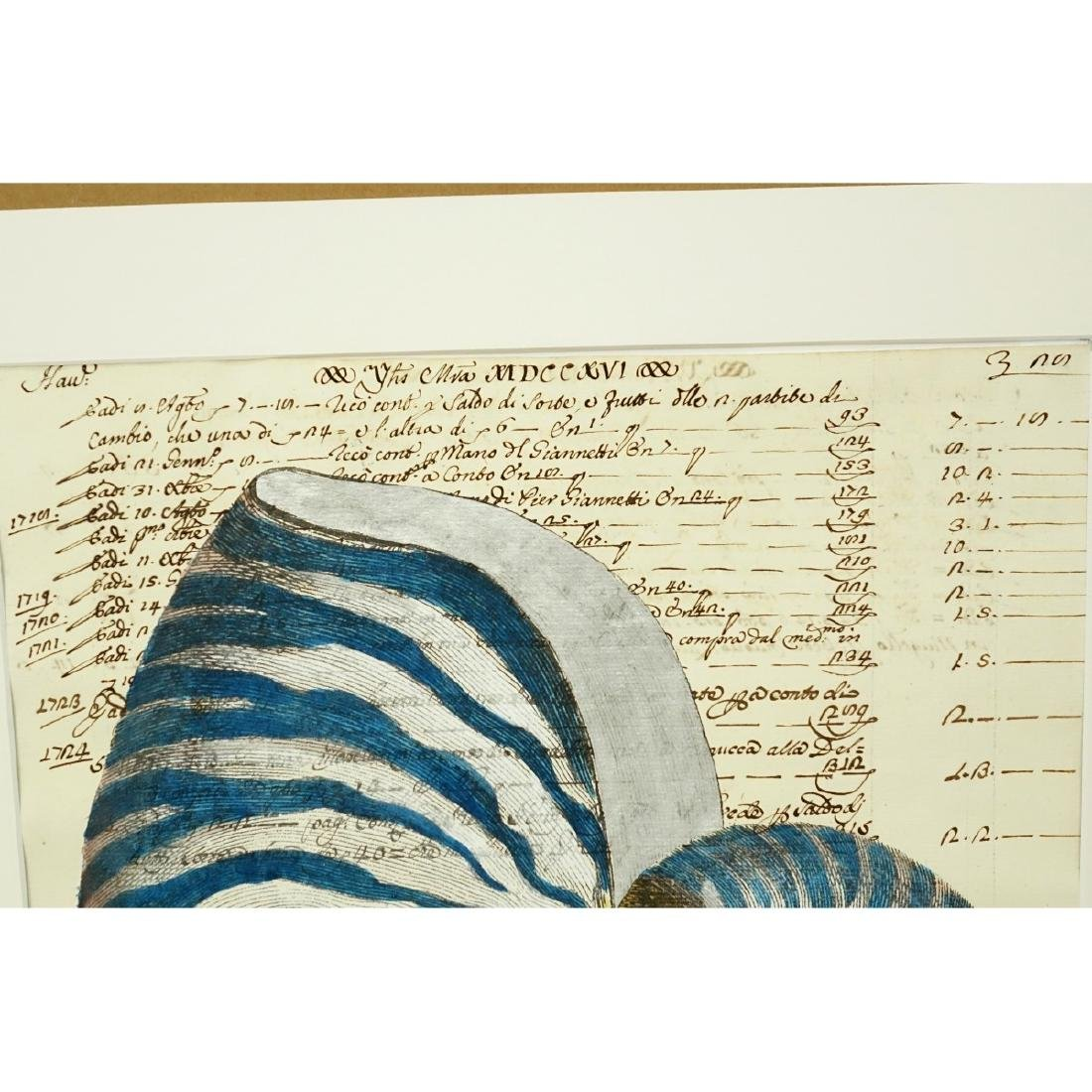 Hand Colored Engraving On 18th C Manuscript - 3