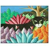 Haitian School Oil On Artist Board