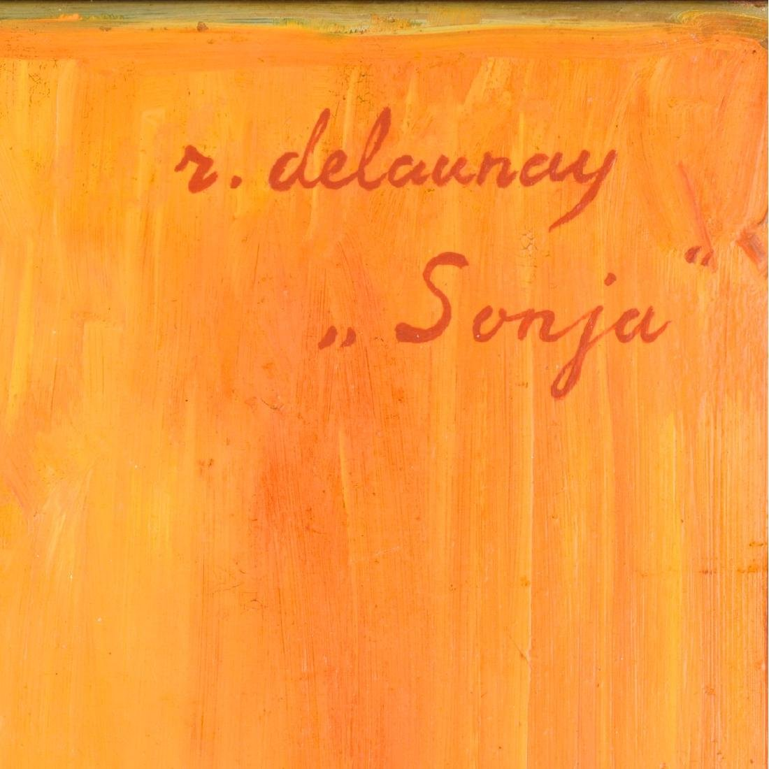 Signed R. Delaunay Oil on Panel - 5