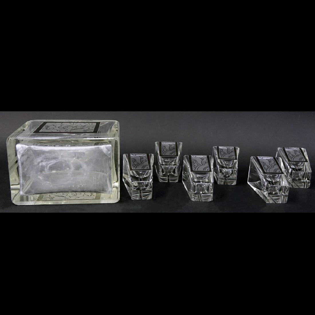Czech Art Deco Crystal Seven Piece Set - 4