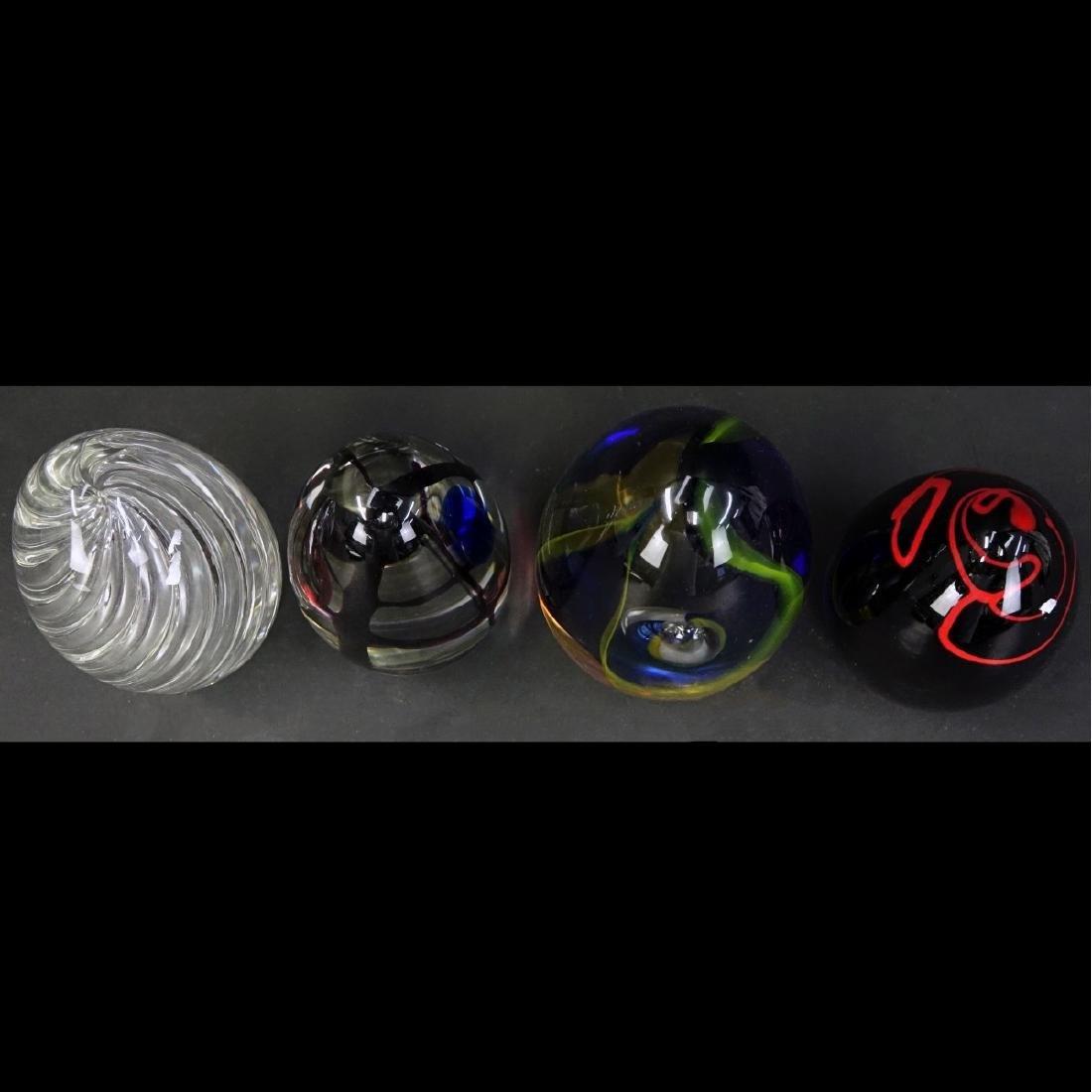 Four (4) Murano Seguso Art Glass Egg Paperweights - 2