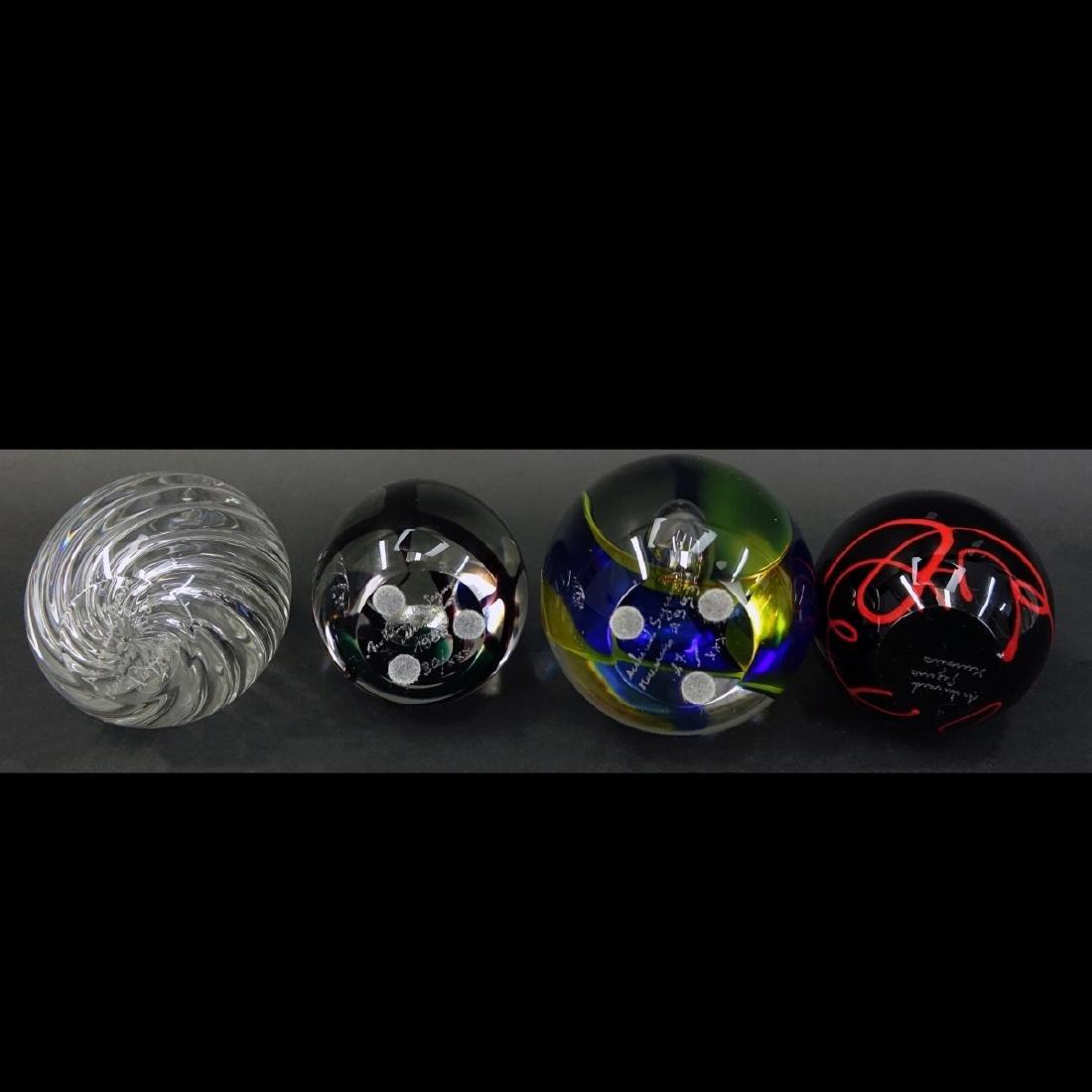 Four (4) Murano Seguso Art Glass Egg Paperweights - 3