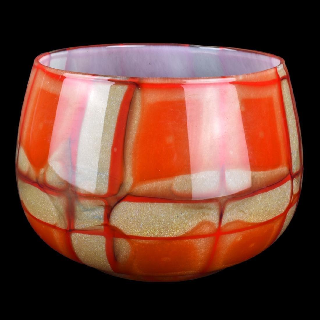 Artist's Choice from Kosta Boda Red Art Glass Bowl