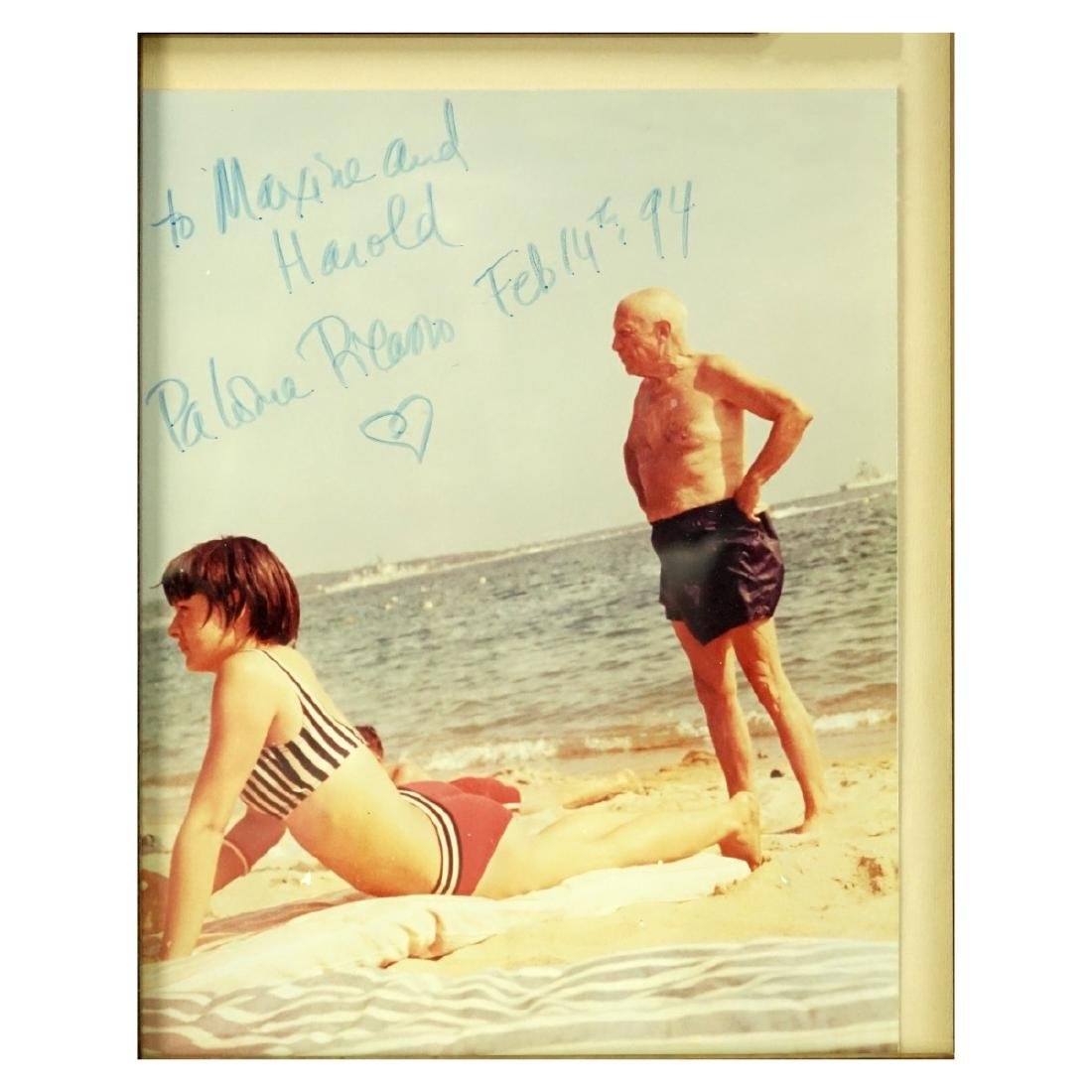 Photograph Of Picasso Signed By Paloma Picasso