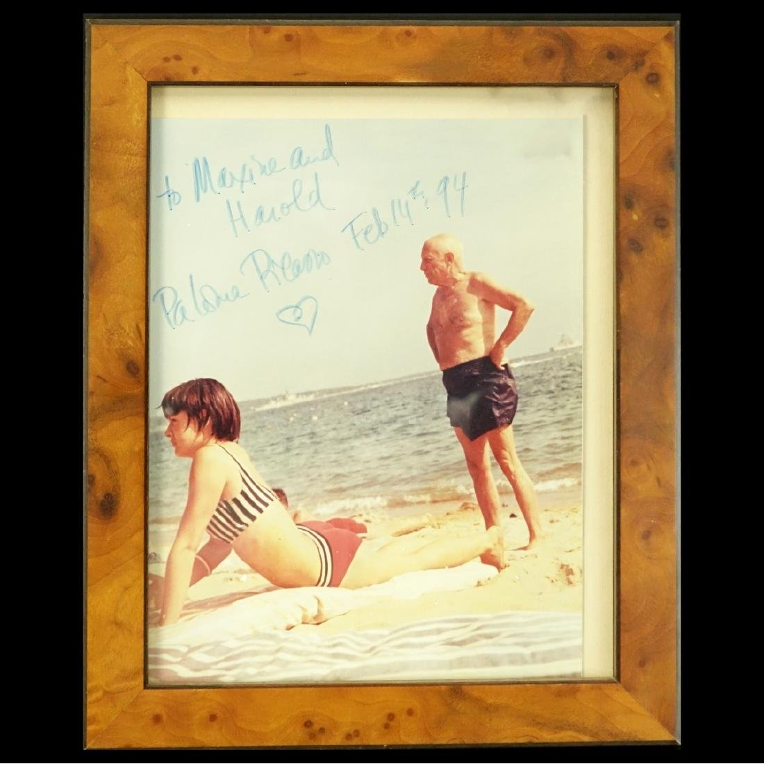 Photograph Of Picasso Signed By Paloma Picasso - 2