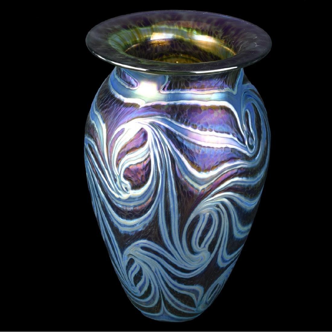 Robert Eickholt King Tut Art Glass Vase