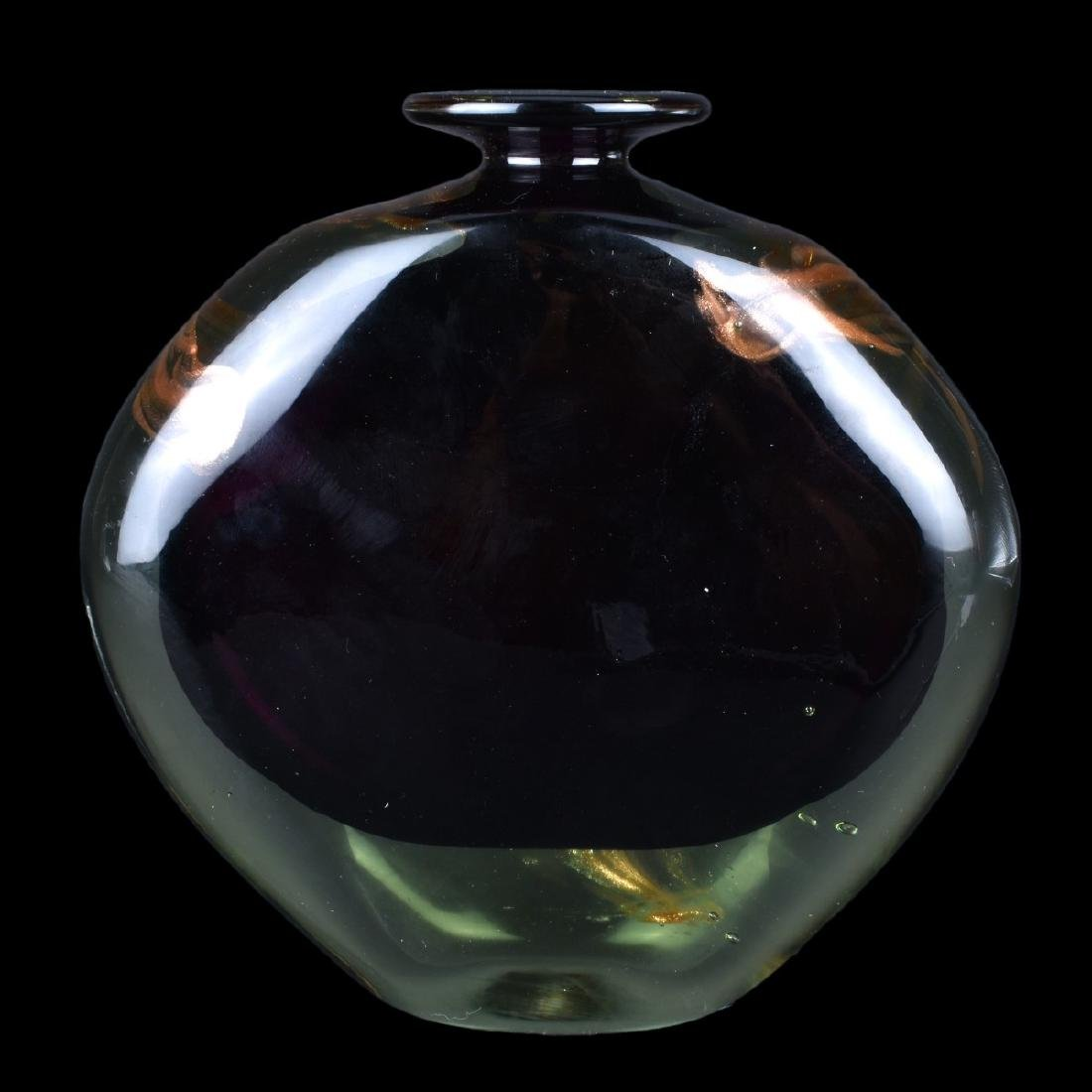 French Art Deco Amethyst to Clear Art Glass Vase - 3