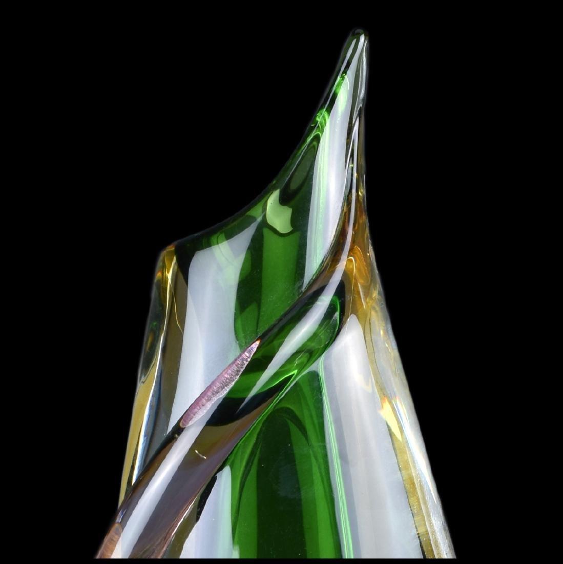 Formio Sommerso Art Glass Vase - 4