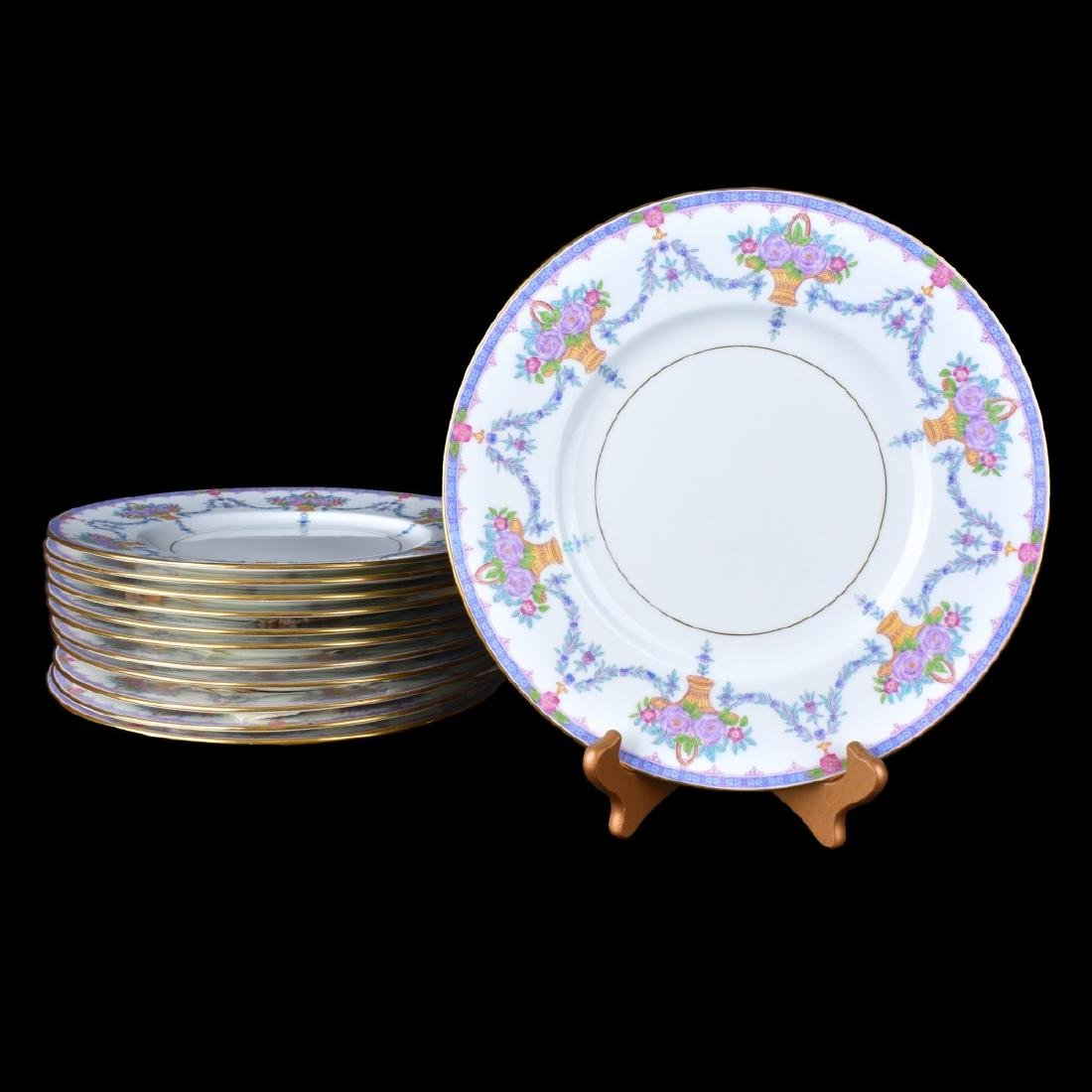 Set of Twelve (12) Minton English Porcelain Plates