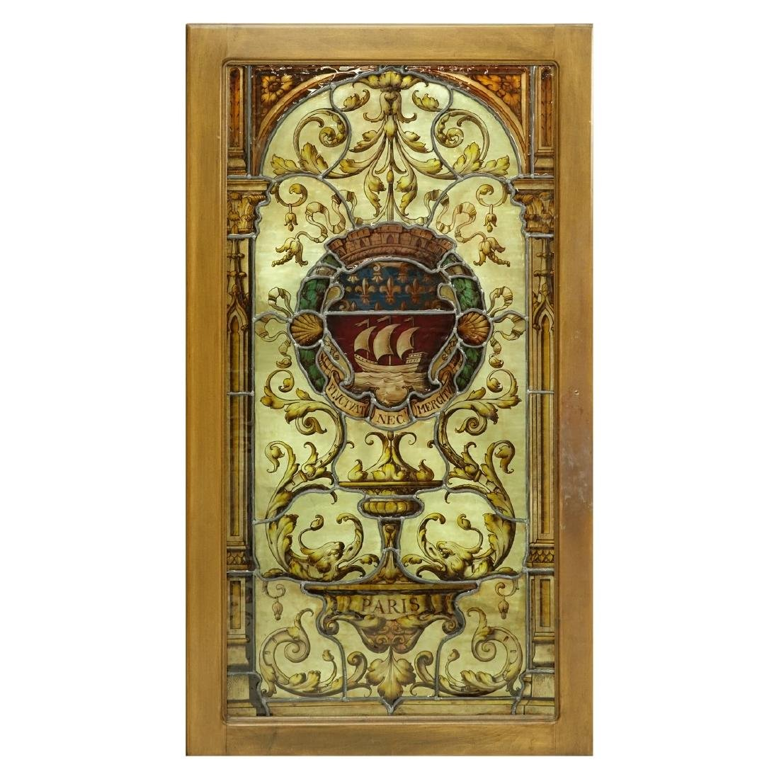 Pair of Vintage Stained Glass Window Panels - 3