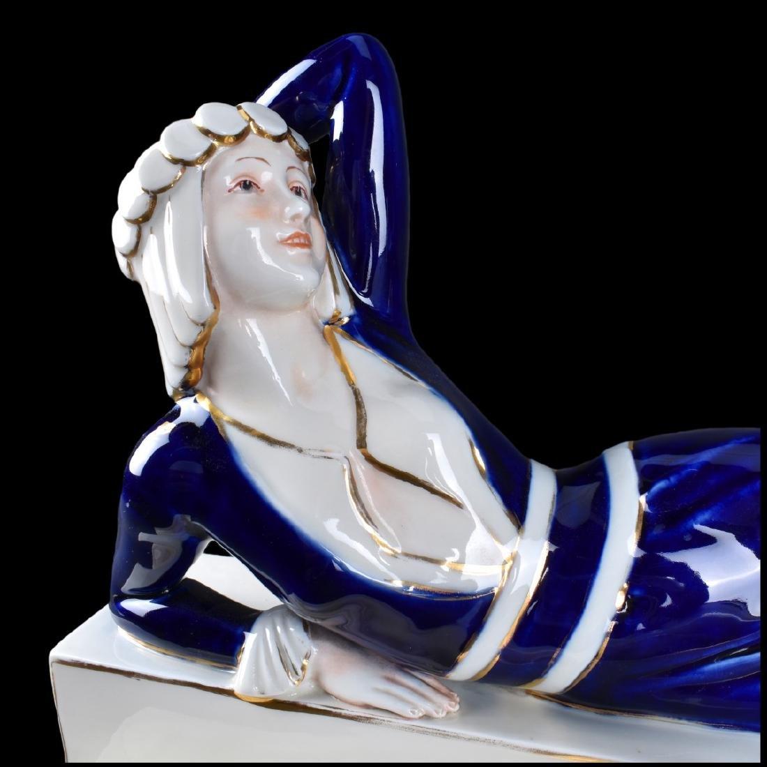 Large Royal Dux Art Deco Porcelain Figurine - 2