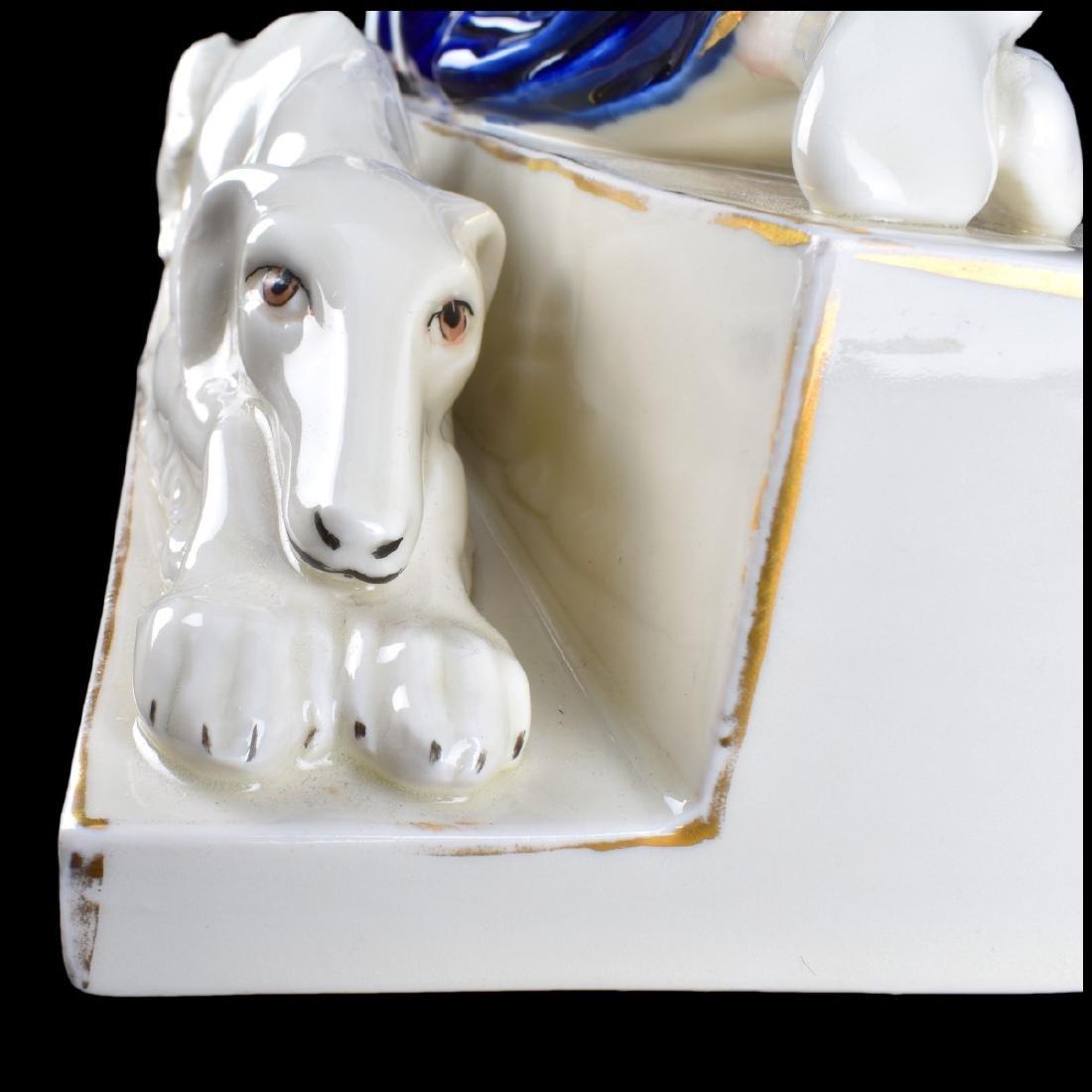 Large Royal Dux Art Deco Porcelain Figurine - 5