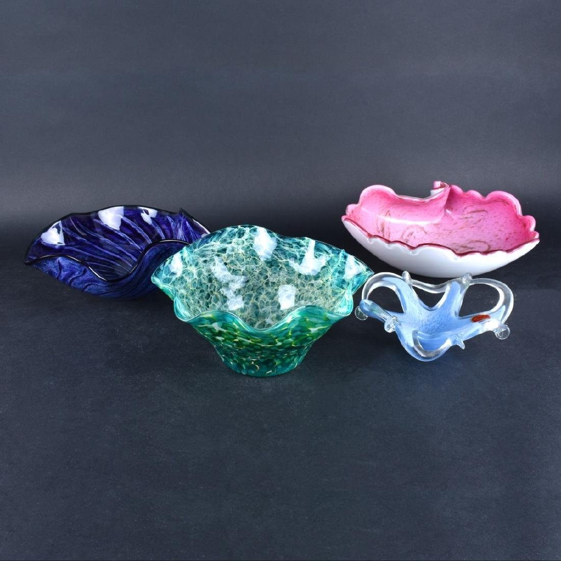 Four (4) Art Glass Bowls