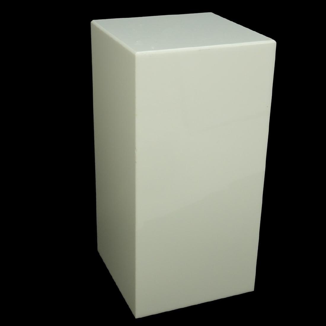 Modern White Lucite Electrified Display Pedestal