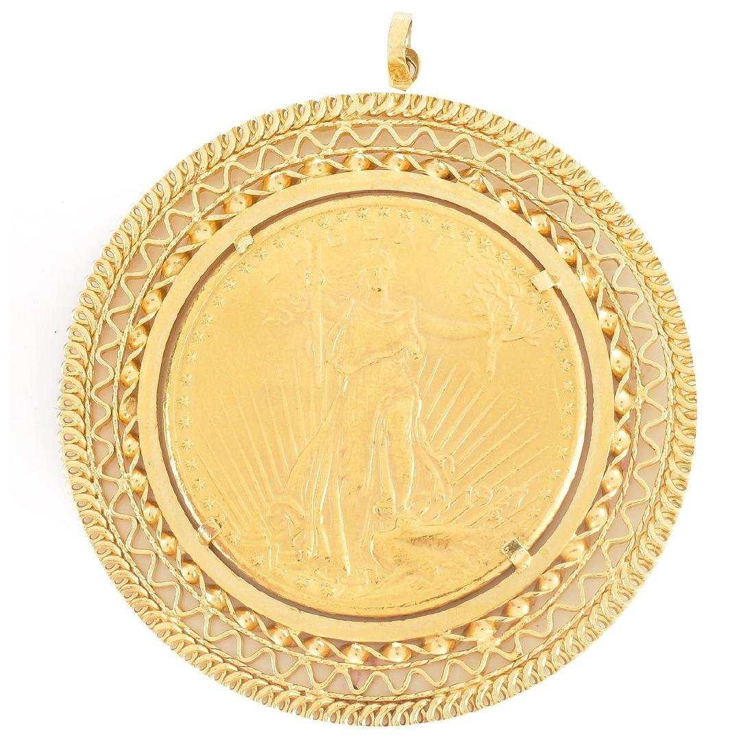 US $20 Gold Coin Pendant