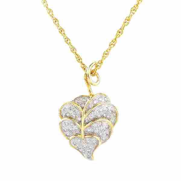 Vintage Diamond and 14K Gold Necklace