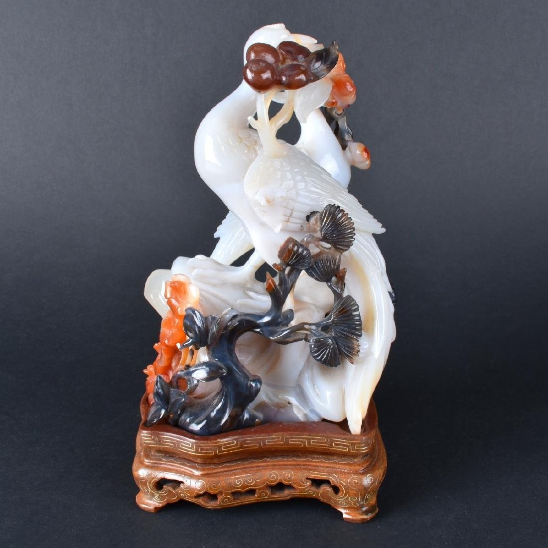 Carved Jade Bird Group - 4