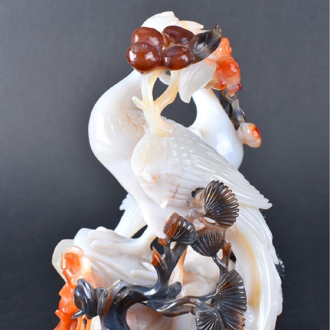 Carved Jade Bird Group - 6