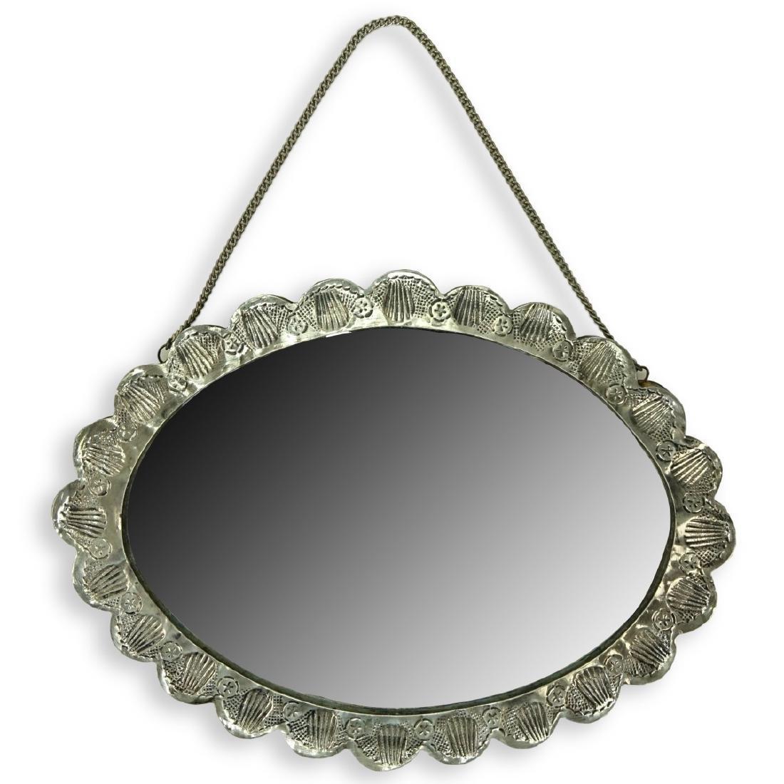 Art Nouveau 800 Silver Mirror