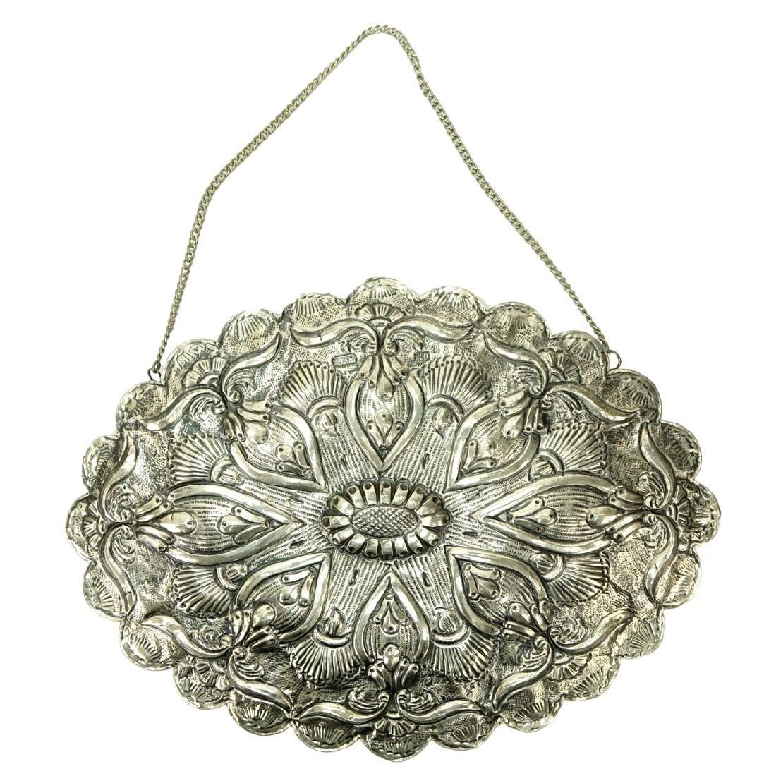 Art Nouveau 800 Silver Mirror - 2