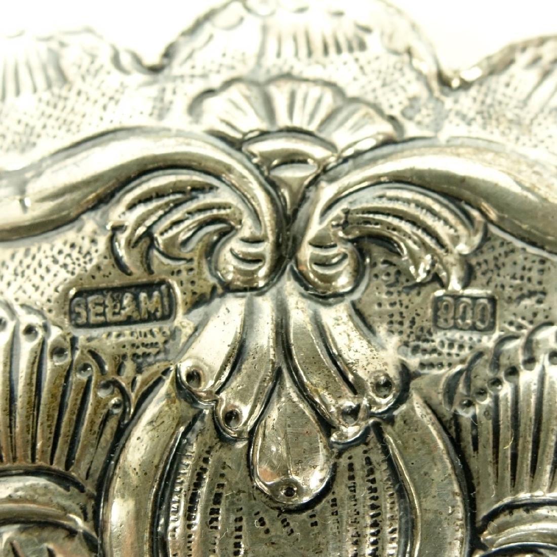 Art Nouveau 800 Silver Mirror - 3