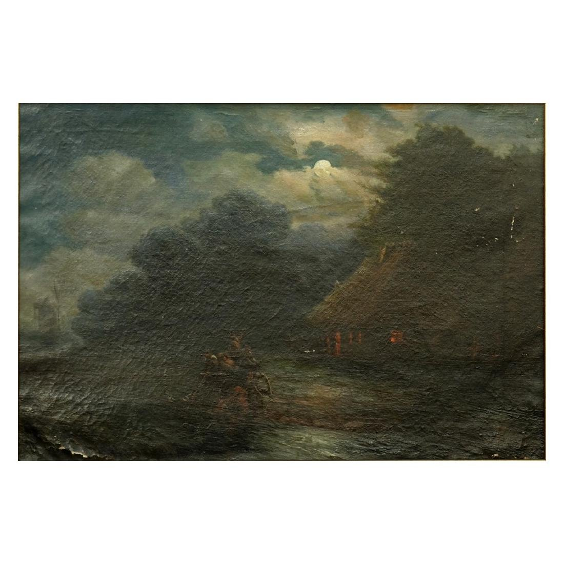 19/20th Century Oil on Canvas