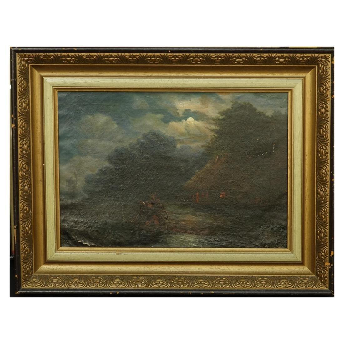 19/20th Century Oil on Canvas - 2
