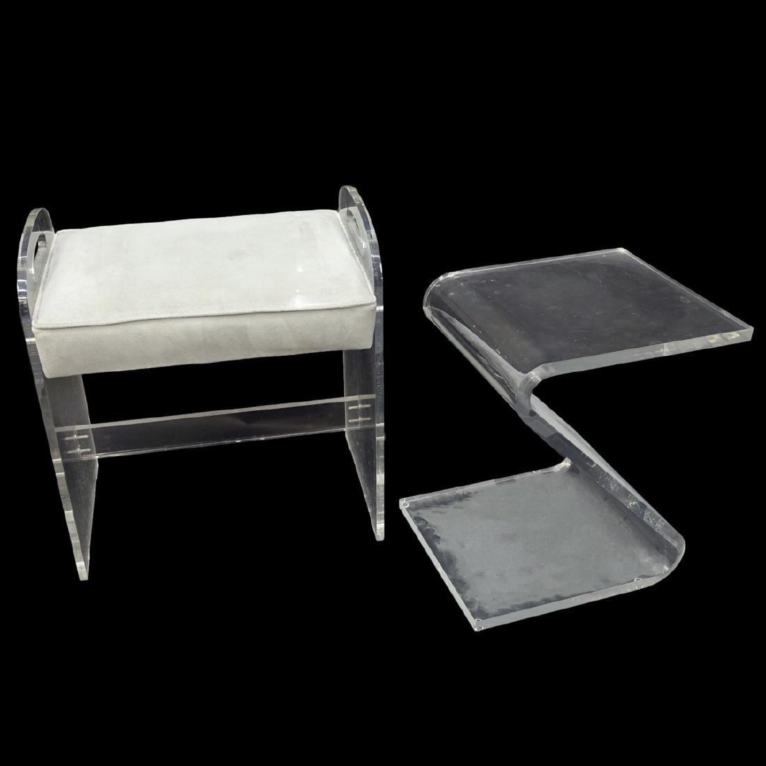 Lucite Bench and Stand