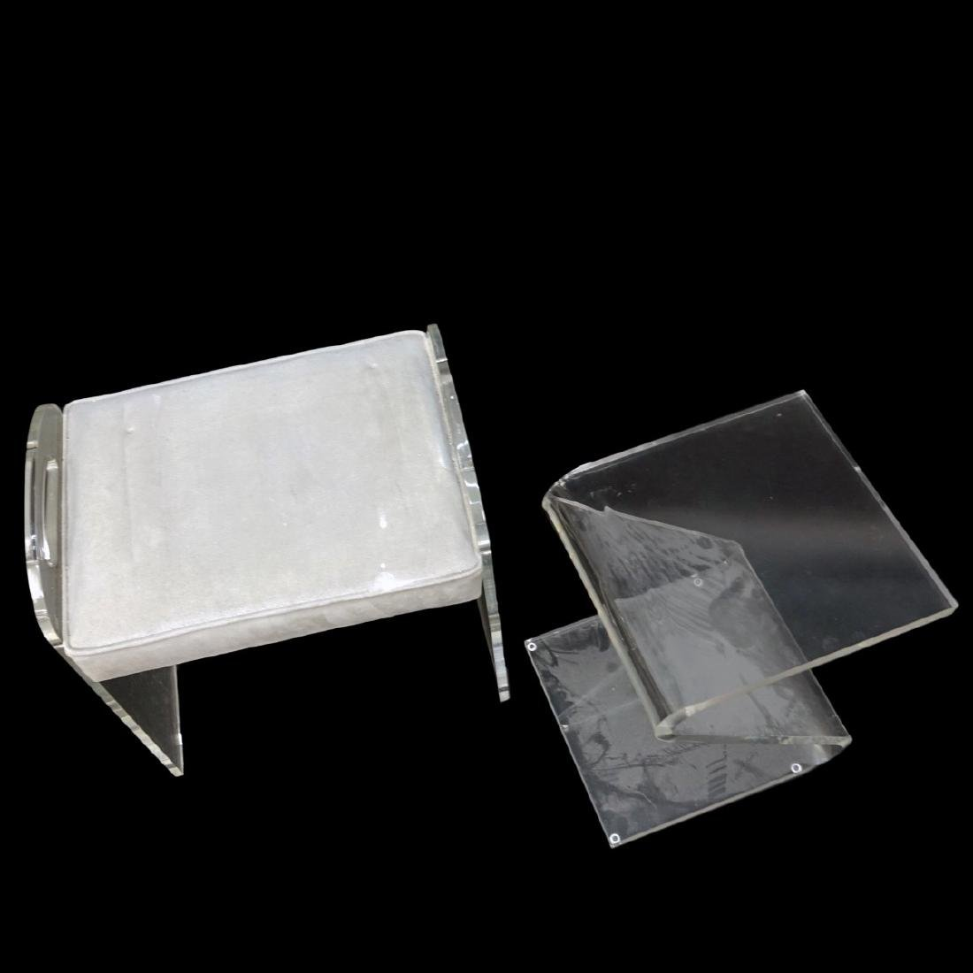Lucite Bench and Stand - 2