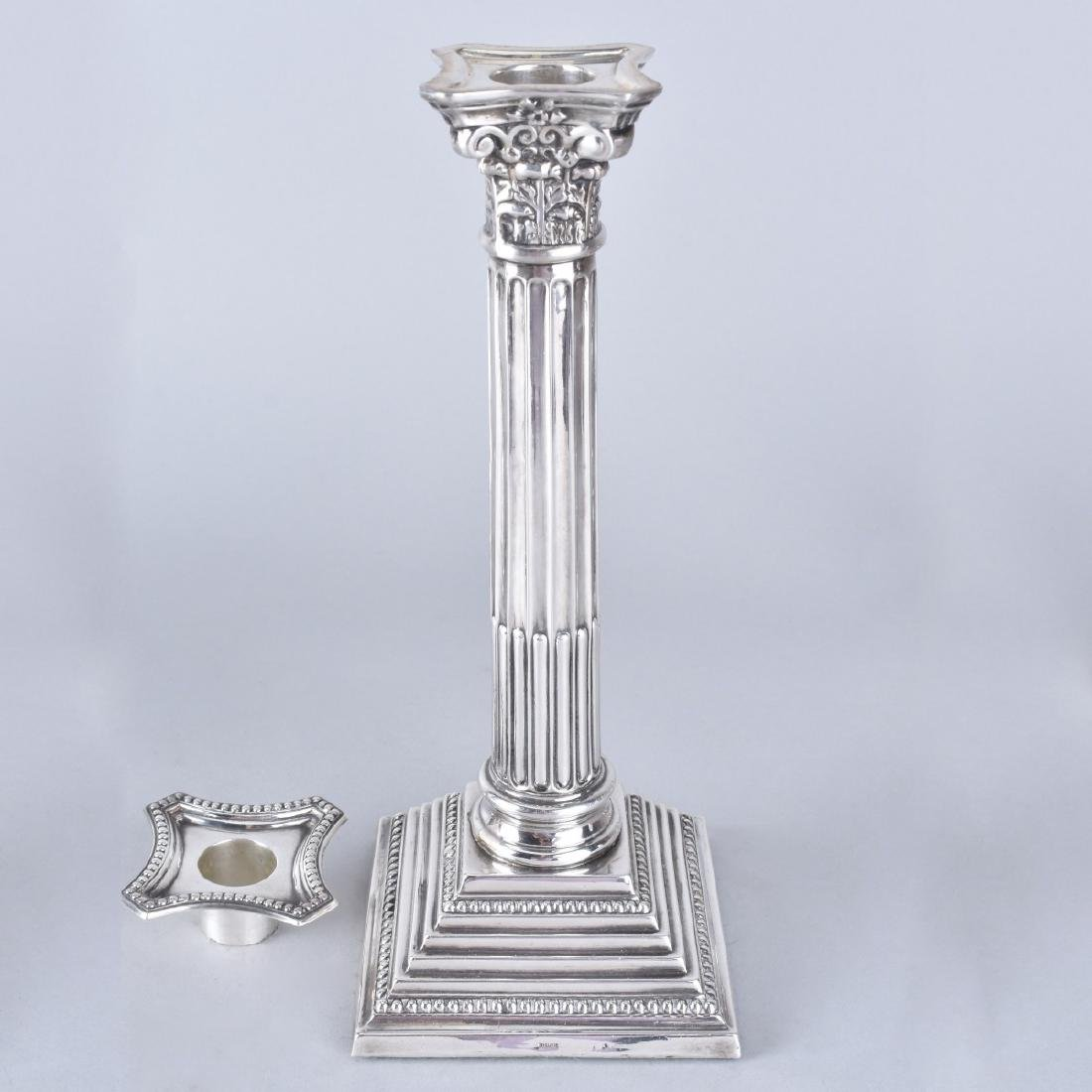 Two Pair Silver Candlesticks - 6