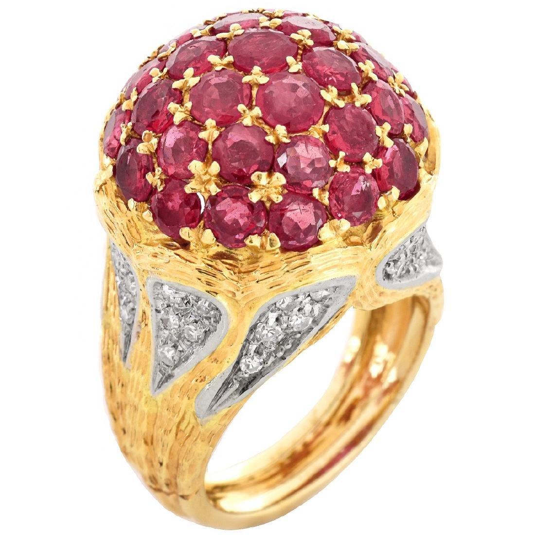 Spitzer & Furhmann Ruby and Diamond Ring