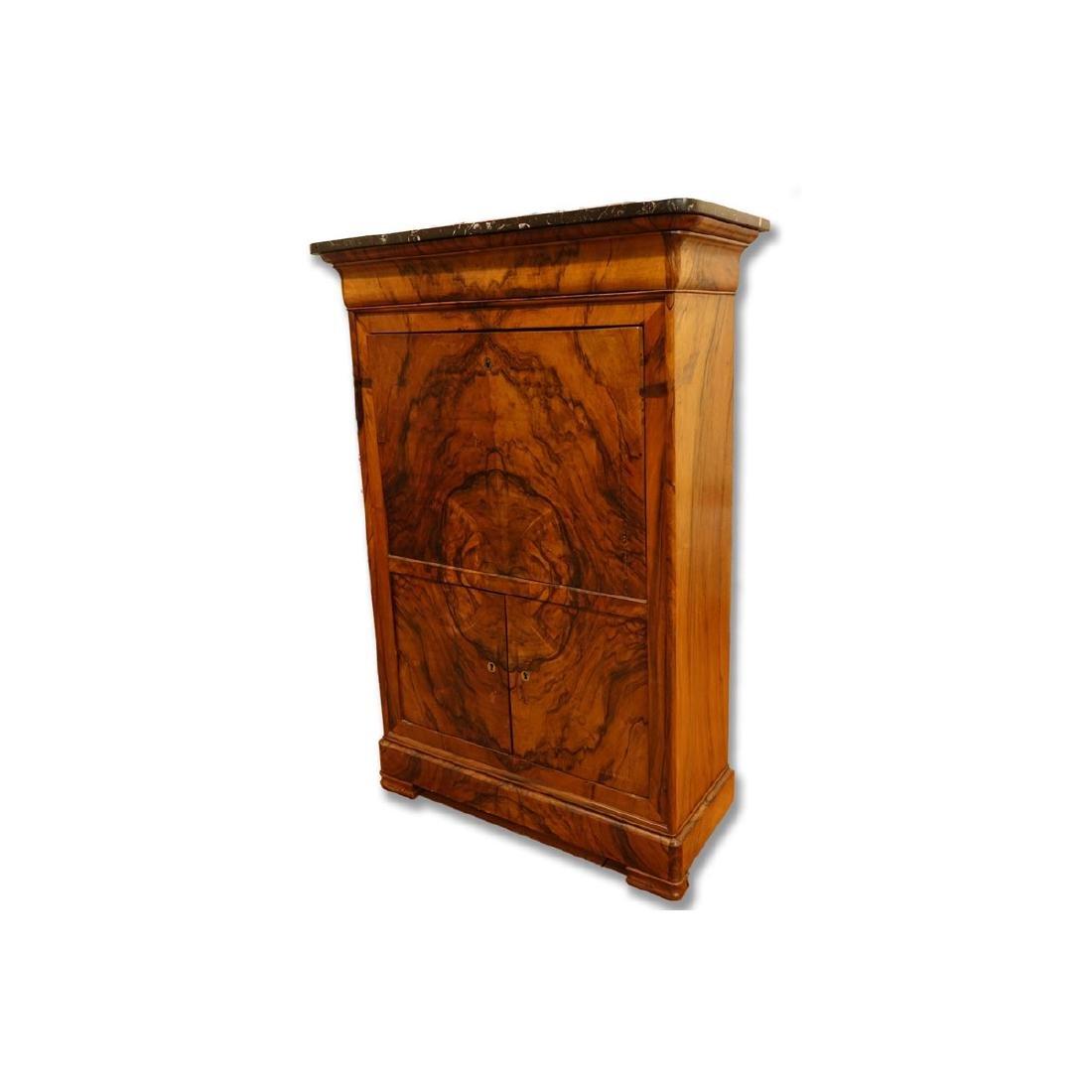 58f66db121 French Louis Philippe Burled Walnut Secretary Desk - Mar 20, 2019 | Kodner  Galleries Inc. in FL