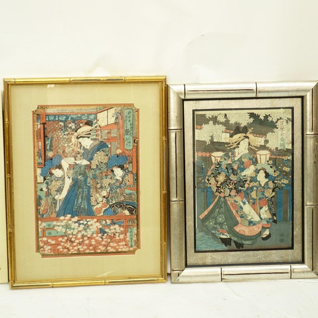 4 Japanese Woodblock Prints - 3