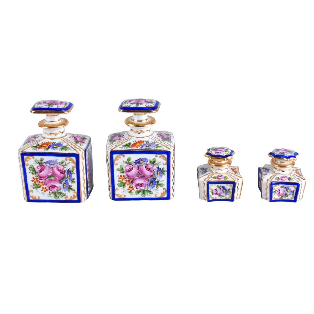 4 Sevres Perfume Bottles