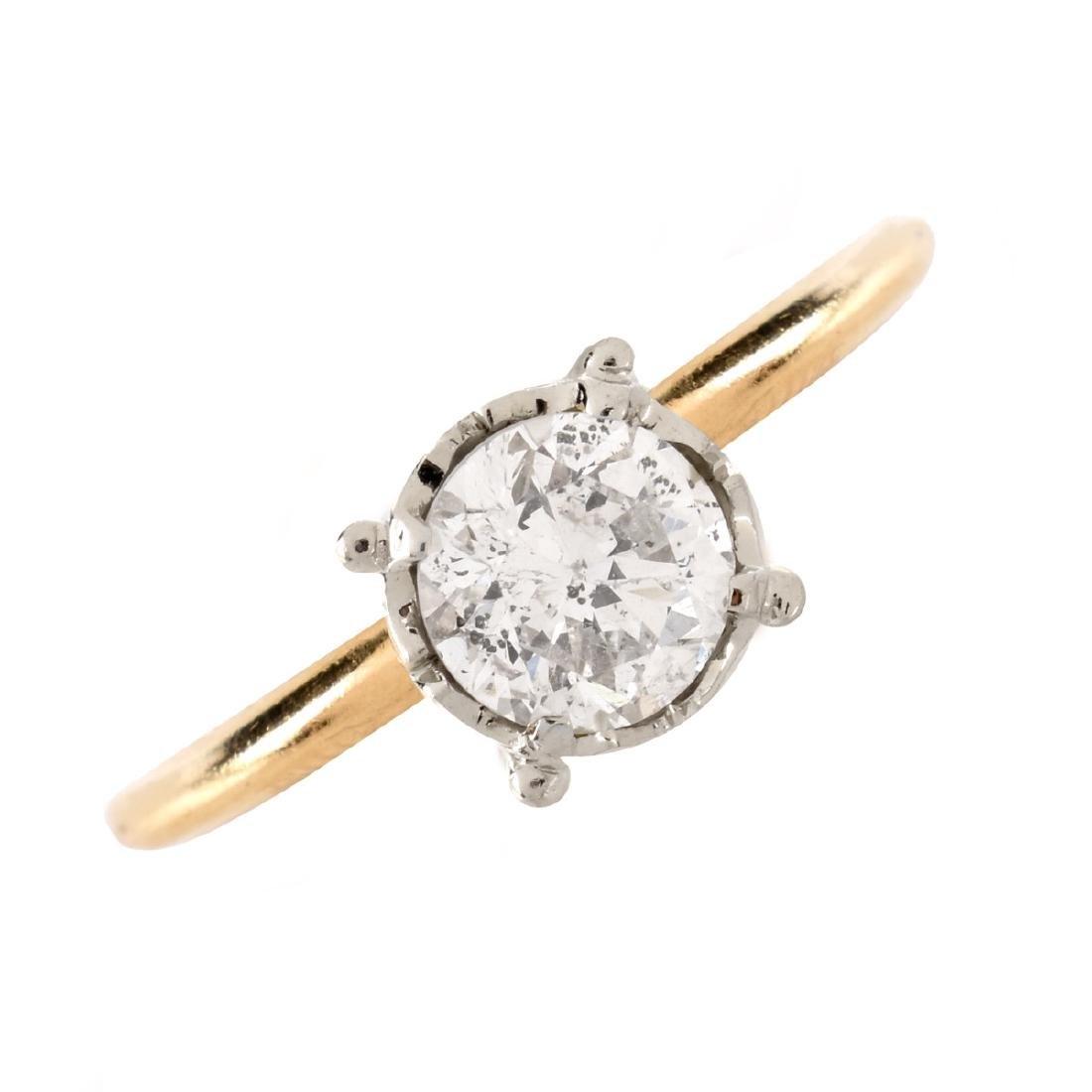 1.0 Carat Diamond and 14K Ring