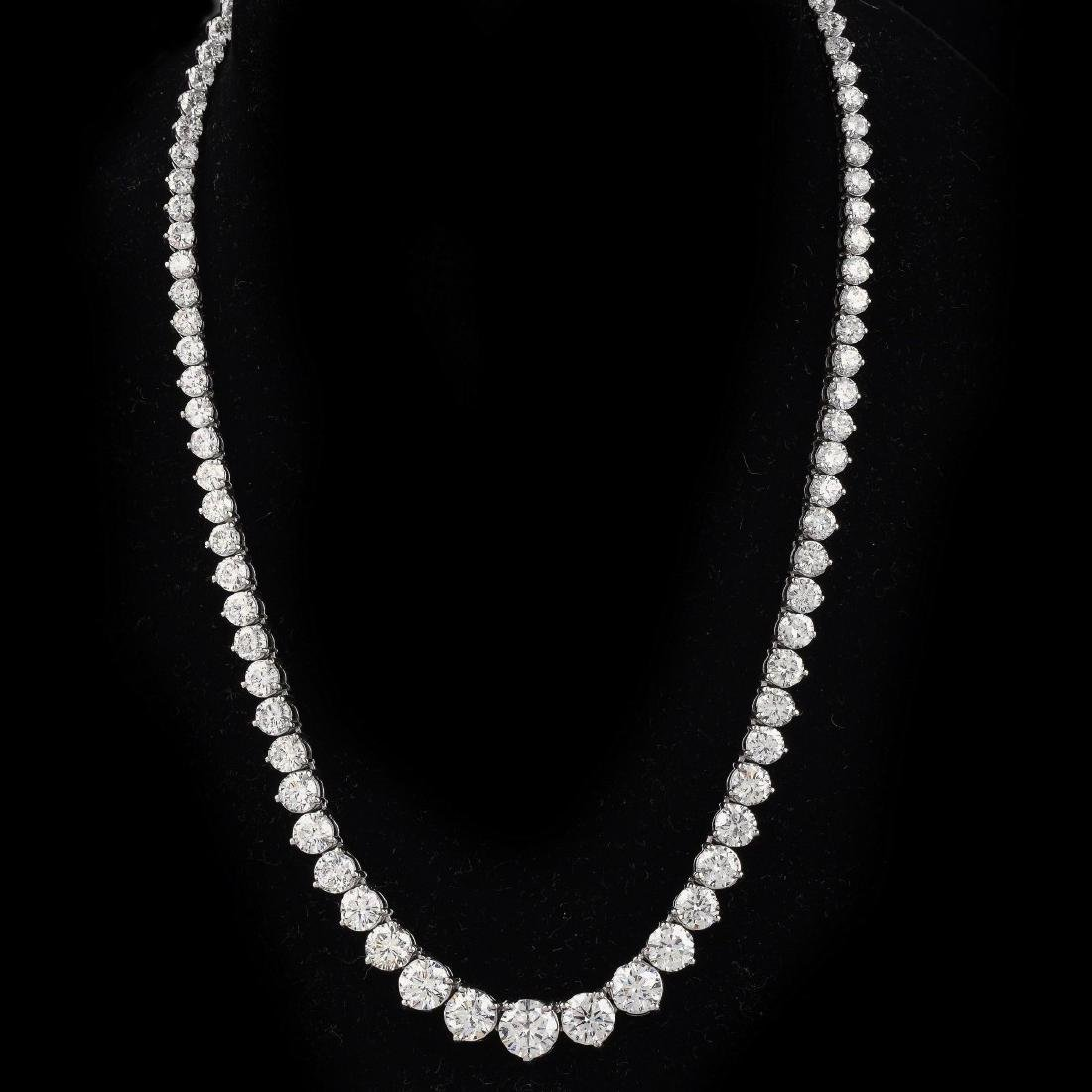 Very Fine 36.0ct TW Diamond Riviera Necklace