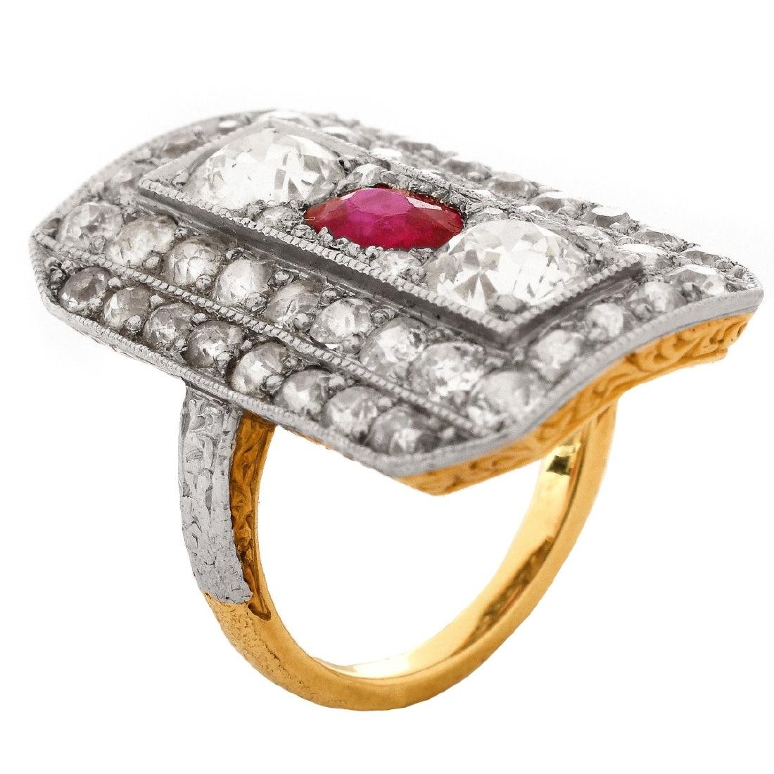 Antique Diamond and Ruby Ring