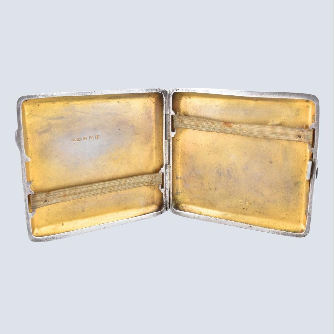 English Silver Cigarette Case - 3