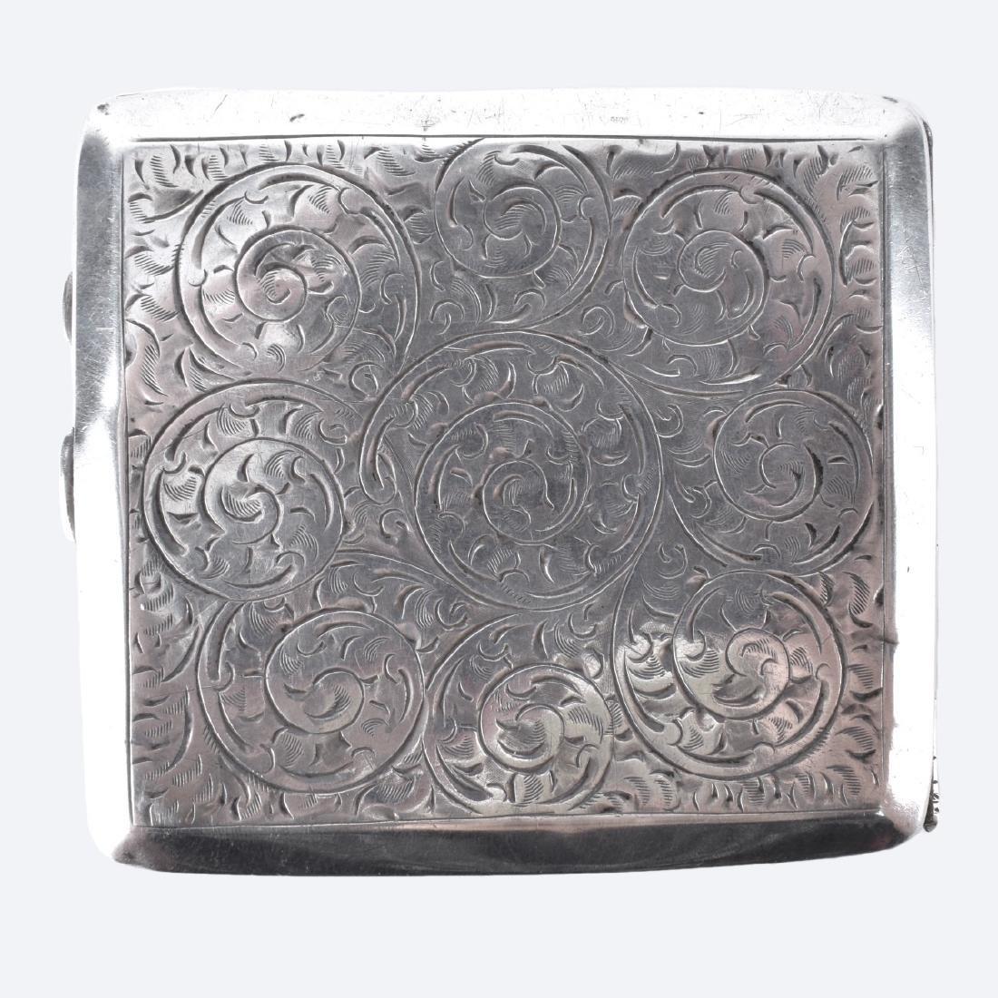English Silver Cigarette Case - 4