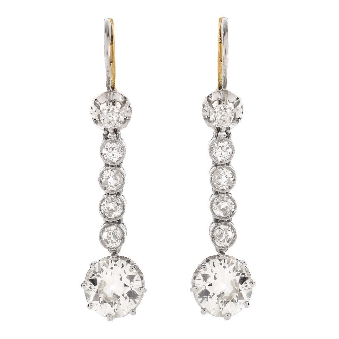 Approx. 5.1ct TW Diamond Earrings