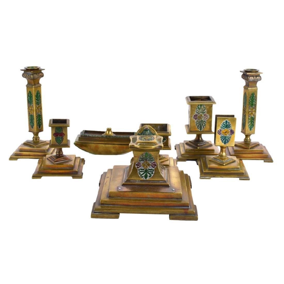 Russian Art Deco Signed Desk Set