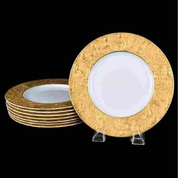 """Rosenthal """"Magic Flute Gold"""" Dinner Plates"""