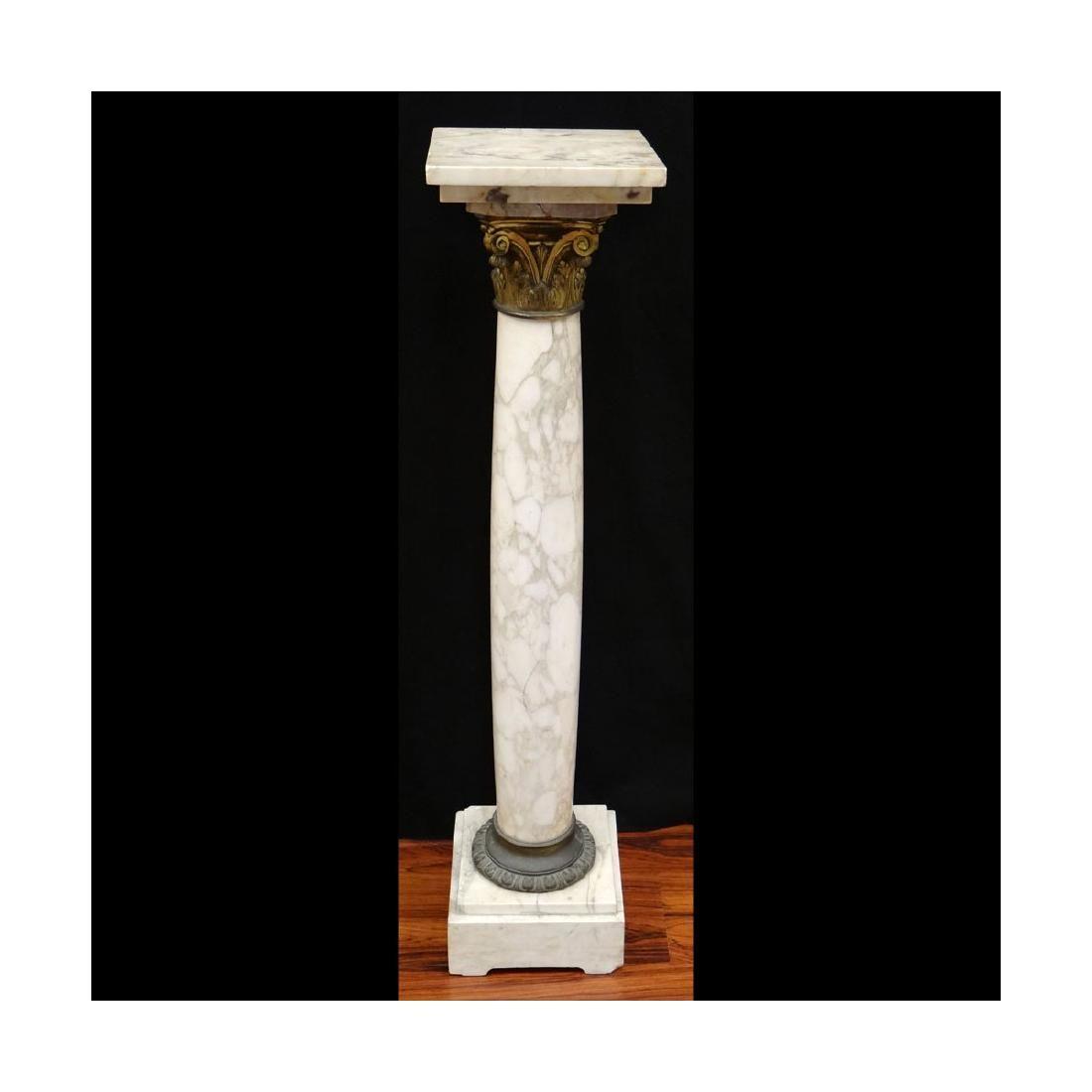 Bronze Mounted Marble Pedestal
