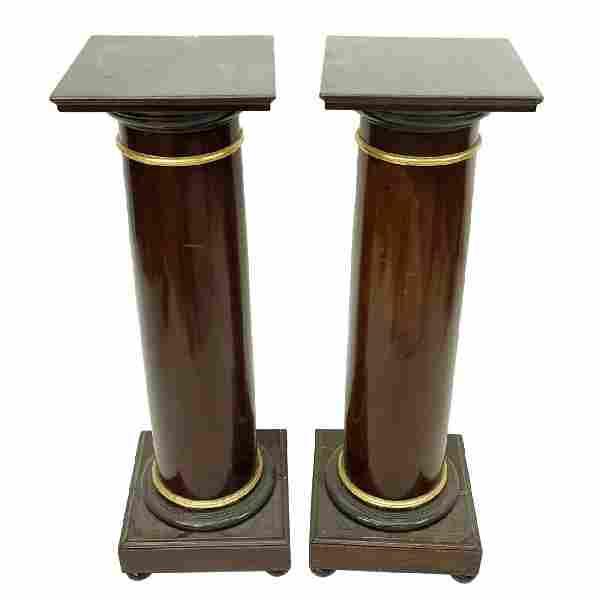 Pair of Wooden Pedestal