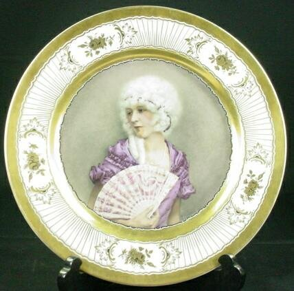 8: 1929 Rosenthal Gilt Decorated Cabinet Plate. Center