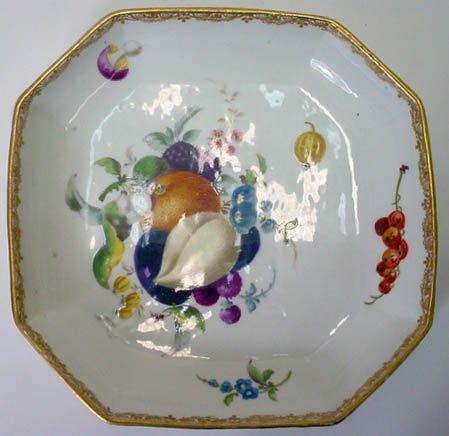 12: 18C Hand Painted Meissen Marcolini Low Bowl