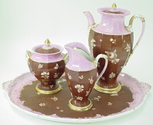 14A: 4pc Meissen Porcelain Coffee Service