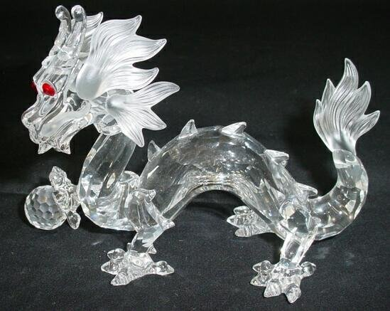 501: Swarovski Crystal Dragon Creature Fantastiche. Sig