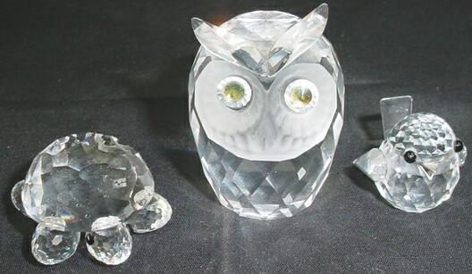 502: Lot of Three (3) Swarovski Crystal Animal Figures
